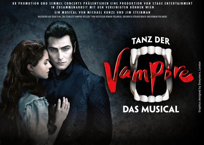 "The musical ""Tanz der Vampire"" (Dance of the Vampires) comes to Cologne!"