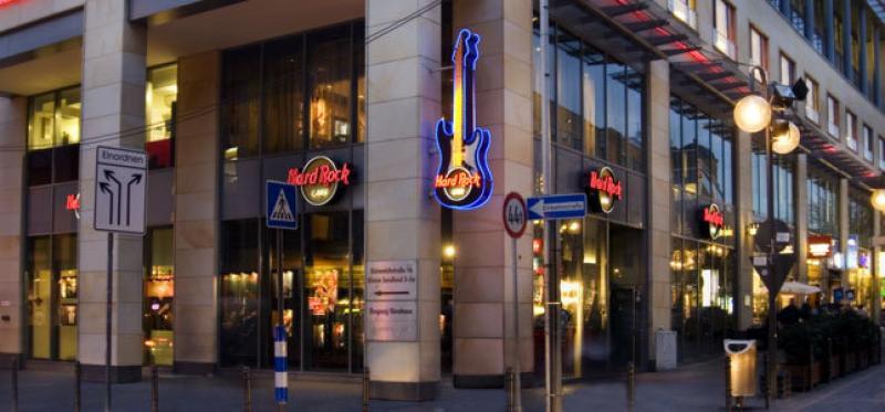 Außenansicht des Hard Rock Cafés Köln