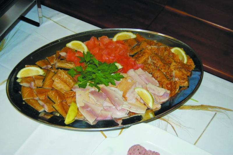 leckere Fischplatte zum teilen