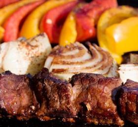 Saftiges Steake mit Gemüse